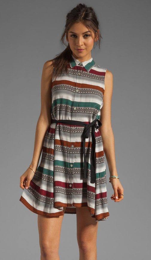 Teasah Sarape Printed Button Up Dress