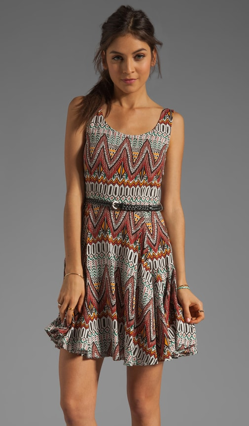 Audrian Madeira Printed Dress