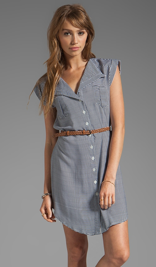 Adrienne Stripe Dress w. Belt
