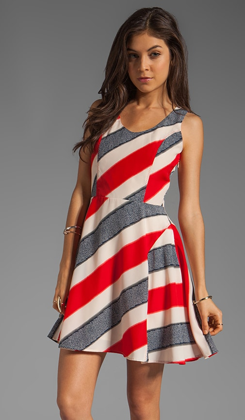 Gwynn Striped River Printed Dress