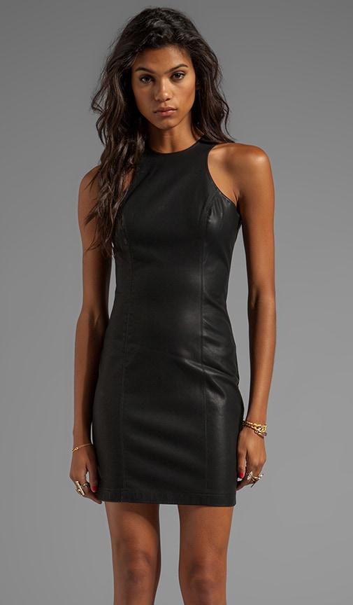 Simone Stretch PU Dress