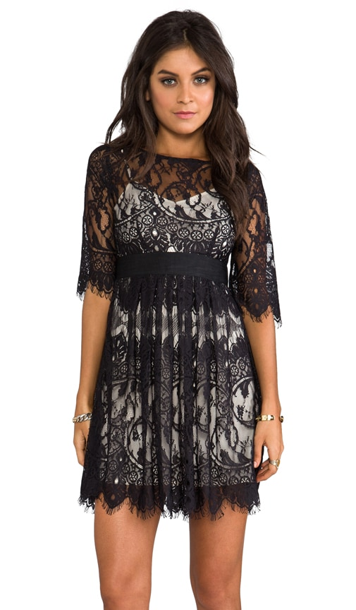 Jessica Scallop Lace Dress