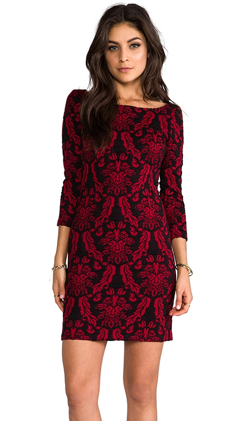Corbin Long Sleeve Tapestry Knit Dress