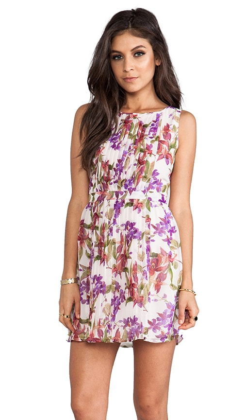 Abril Orchid Printed Tank Dress