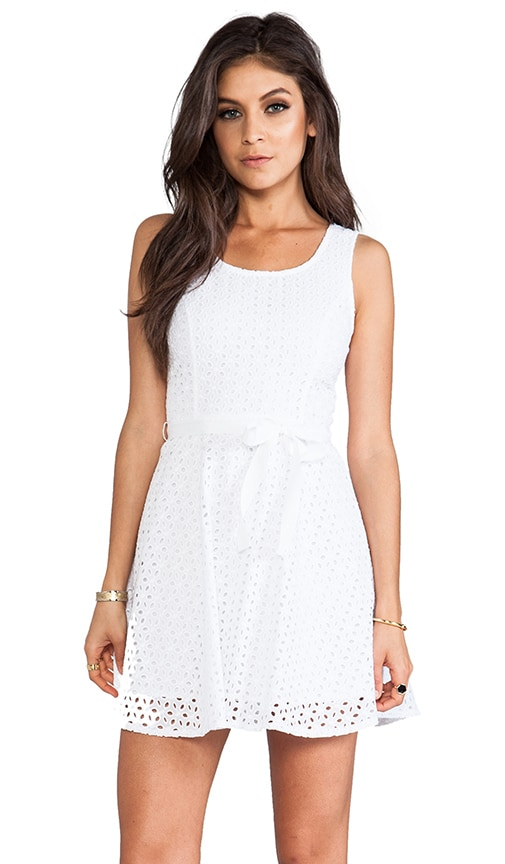 Jerebele Eyelet Mini Dress