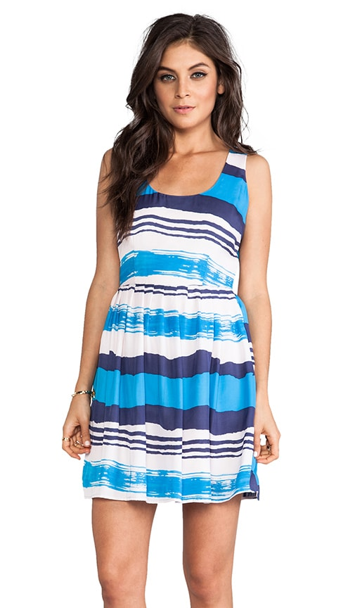 Jamband Wave Printed Tank Dress