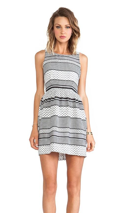 Lola Striped Foulard Dress