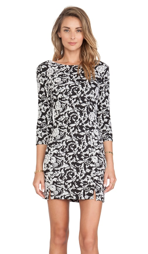 BB Dakota Melina Floral Dress in Black & White