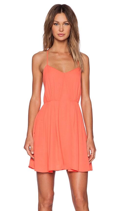 BB Dakota Renrose Dress in Hot Coral