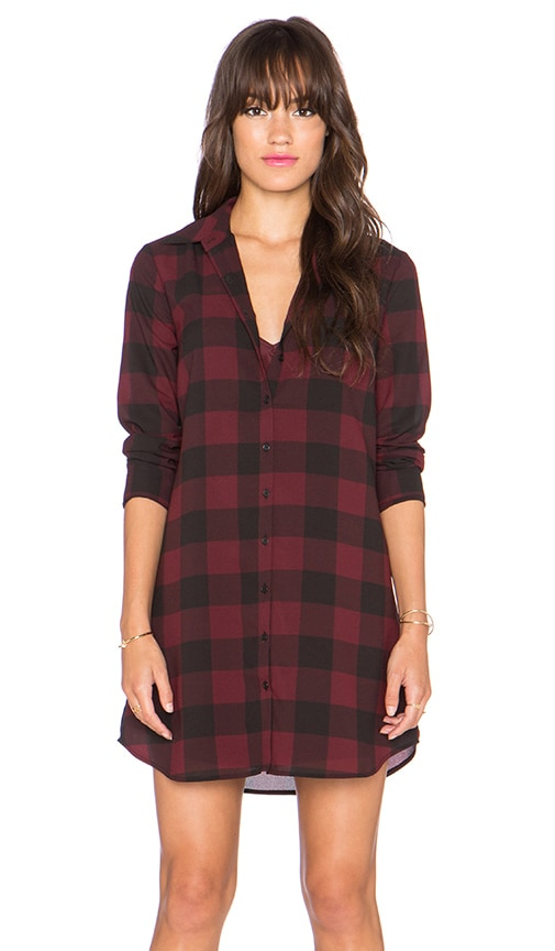 Cotter Plaid Shirt Dress