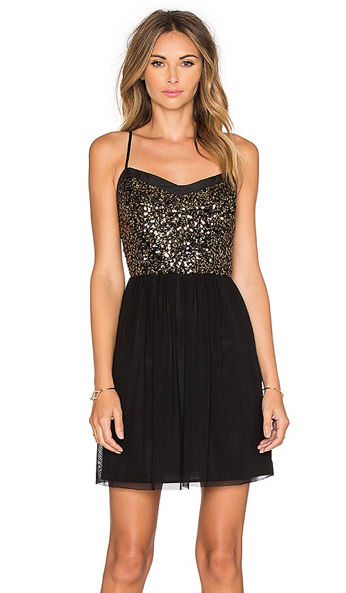 BB Dakota Jack by BB Dakota Carrian Sequin Dress in Black