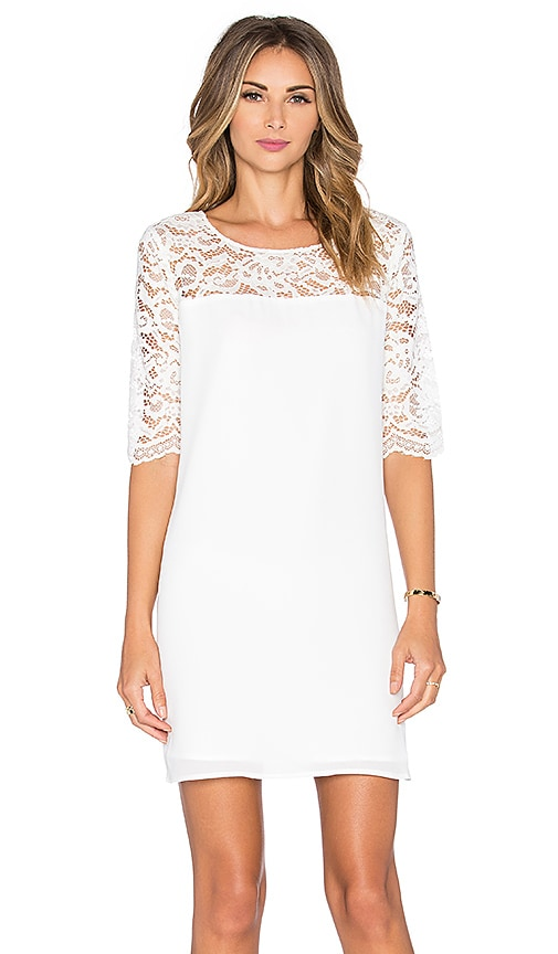 BB Dakota Fisher Lace Dress in Ivory