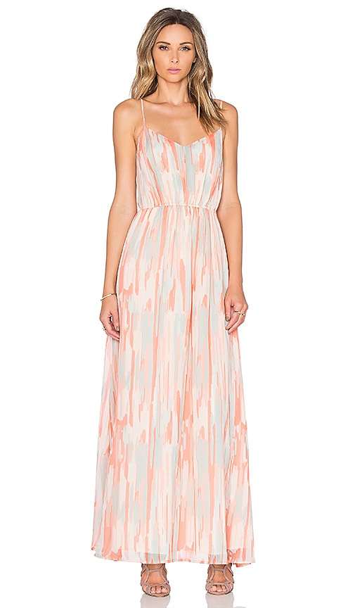 BB Dakota Jack by BB Dakota Hildy Maxi Dress in Peach