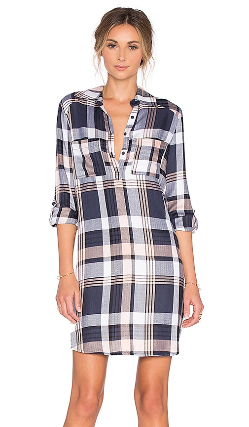 BB Dakota Jack by BB Dakota Midge Shirt Dress in Navy