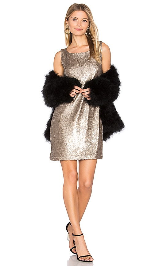 BB Dakota Penley Dress in Metallic Bronze