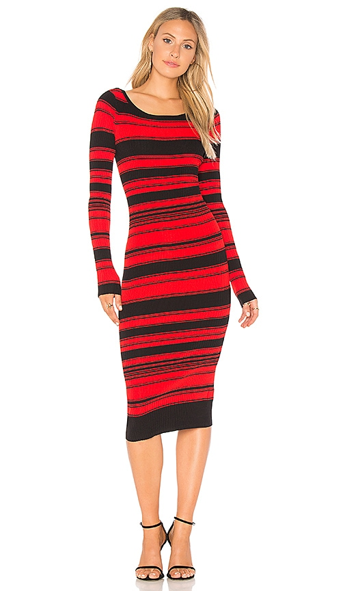 DUNN STRIPED SWEATER DRESS