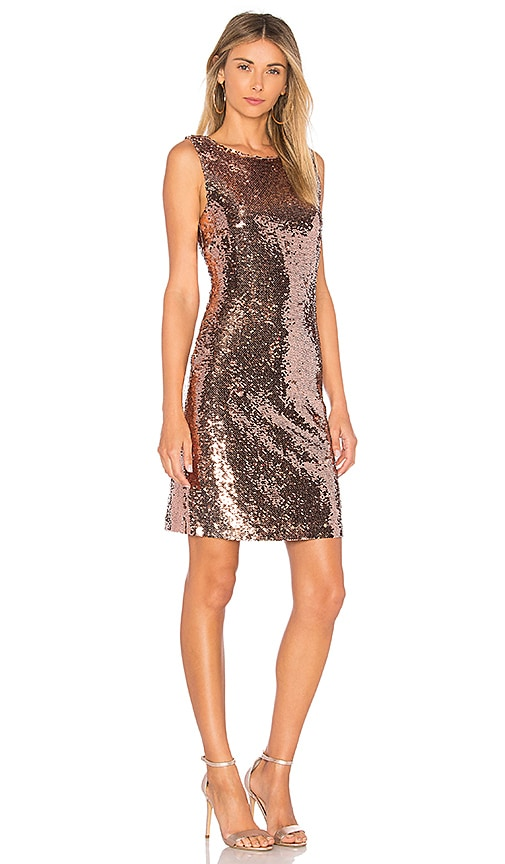 BB Dakota Garland Dress in Metallic Copper