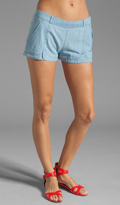 Anna Cotton Chambray Shorts