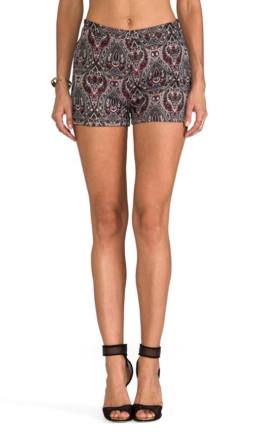 Jovita Paisley Lurex Brocade Shorts
