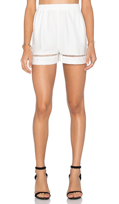 BB Dakota Elastic Waist Short in White