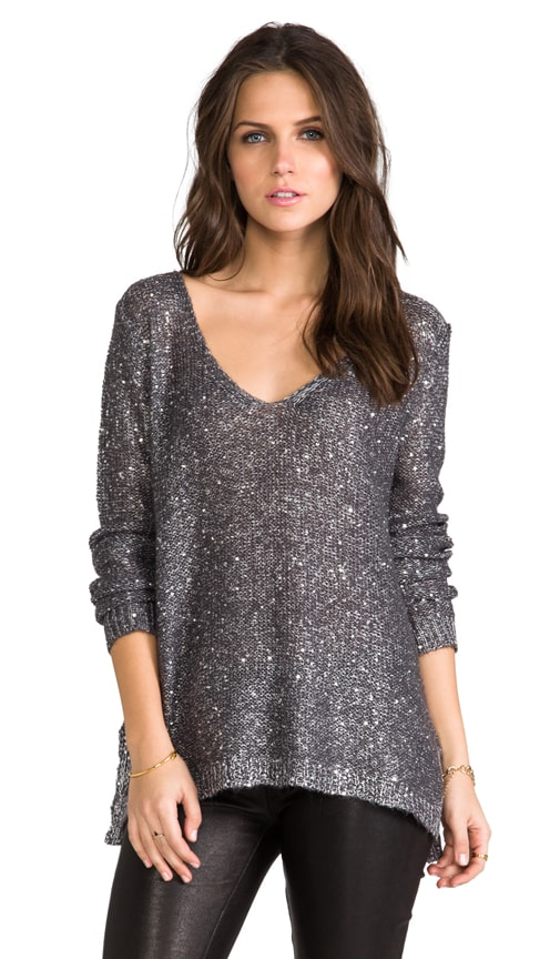 Myla Sequin Open Back Sweater