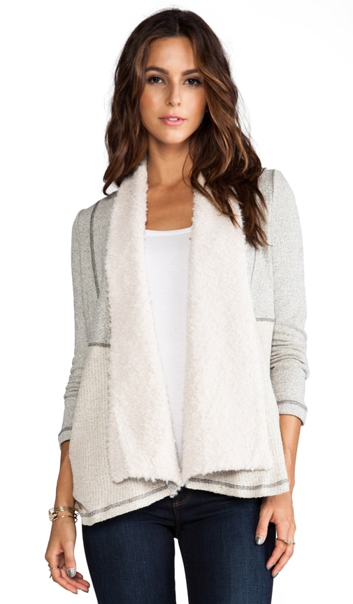 Aila French Terry Wrap Sweater
