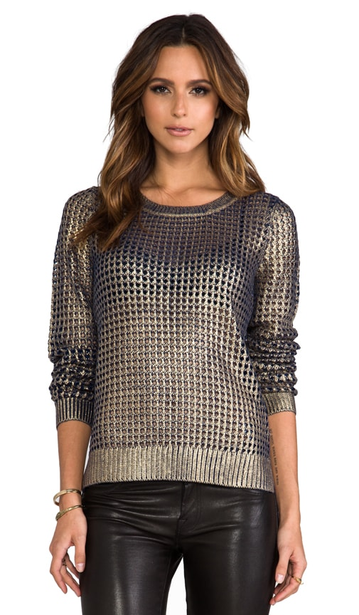 Bardot Metallic Printed Sweater