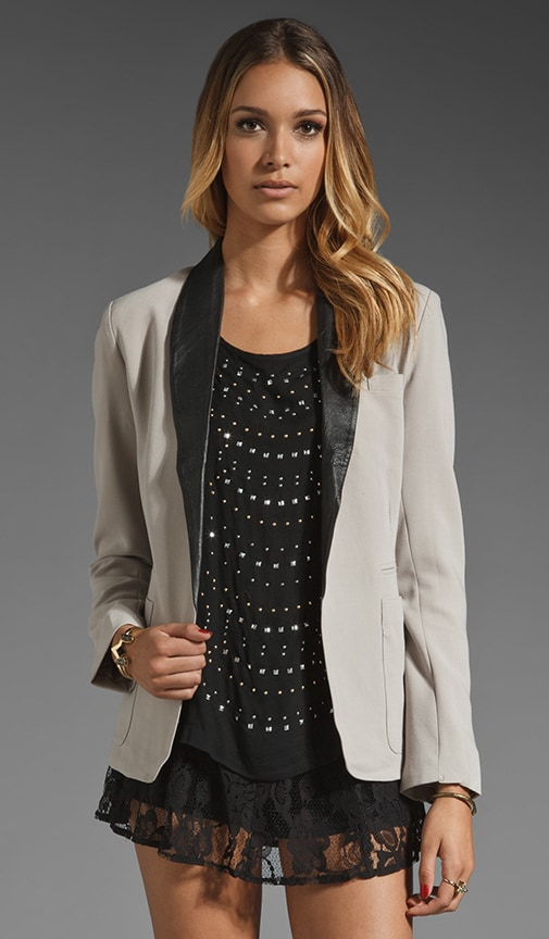 Steward Leather Lapel Blazer