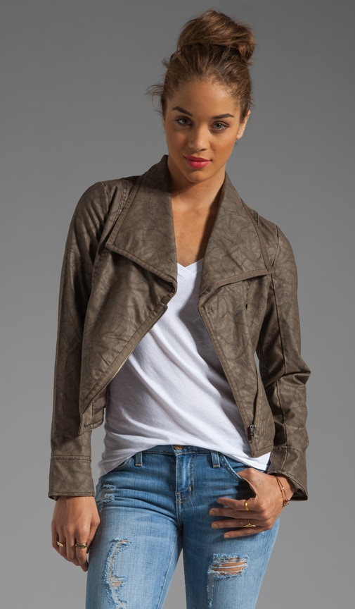 Sandler 2 Tone Crinkle Faux Leather Jacket