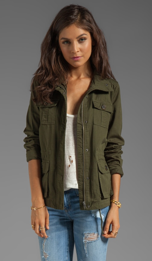 Leslie Cotton Twill Army Jacket