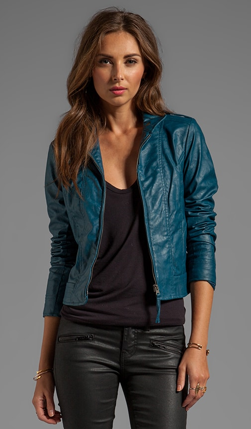 Bowen Dry Crinkle Faux Leather Jacket