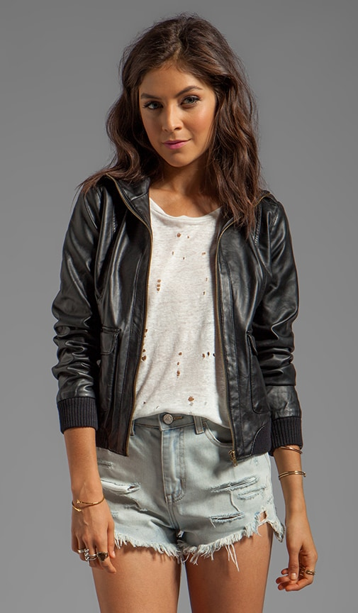 Clayborne Soft Faux Leather Jacket