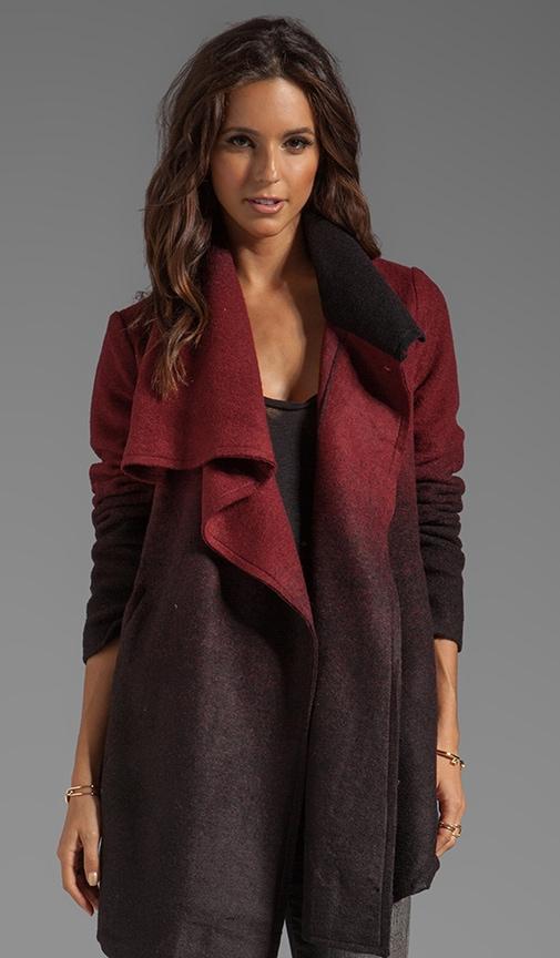 Amber Ombre Fuzzy Melton Coat