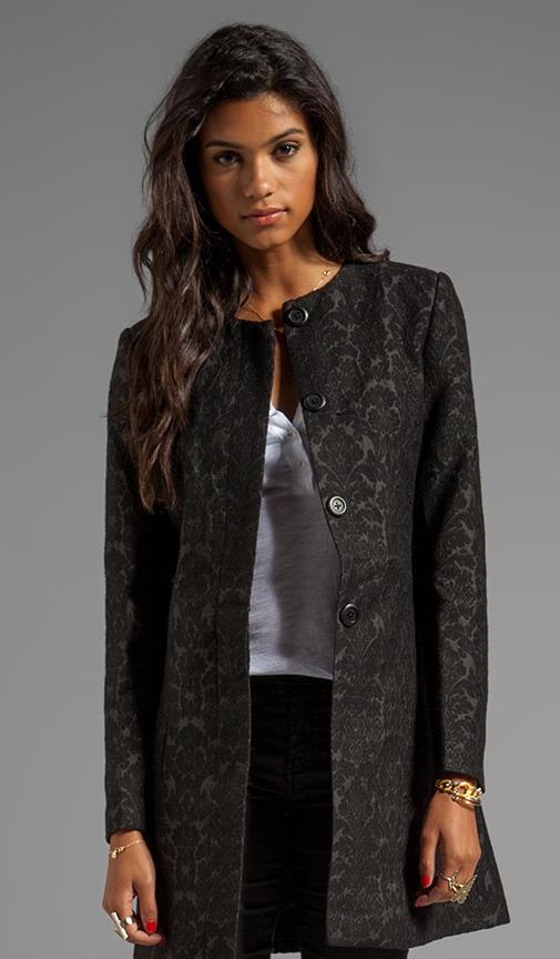 Rosette Jacquard Coat