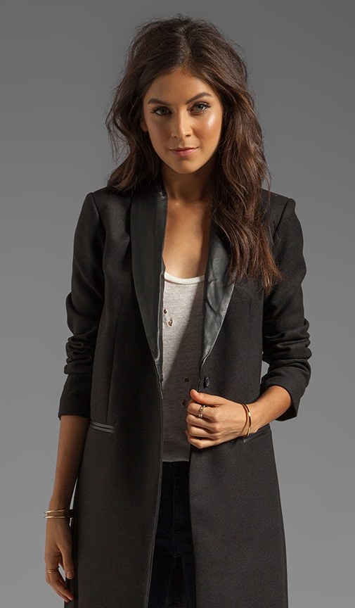 Blair Melton & Leather Lapel Coat
