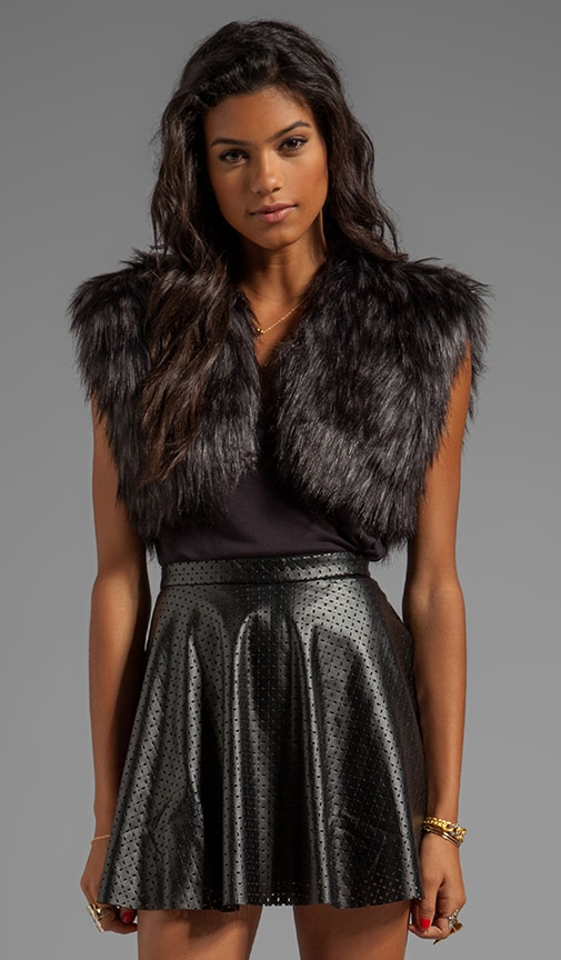 Taya Faux Fur Shrug