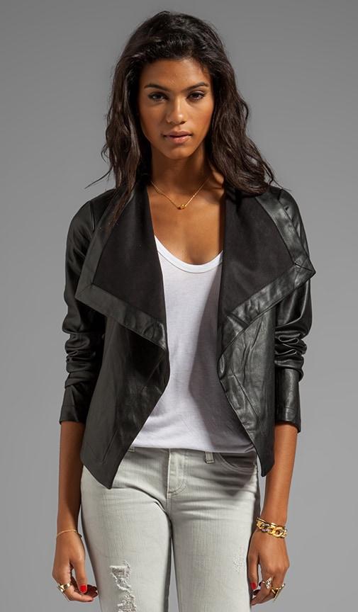 Jasper PU Drapey Front Jacket