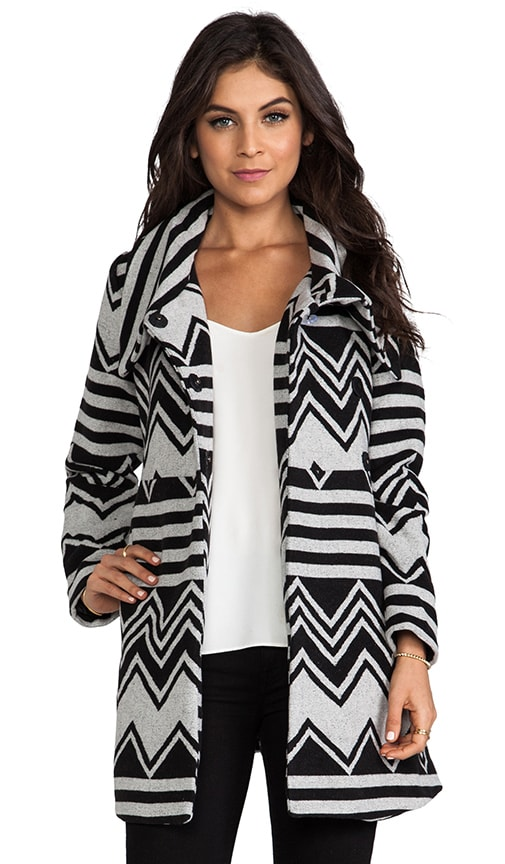 Emilia Charley Stripe Wool Blend Coat
