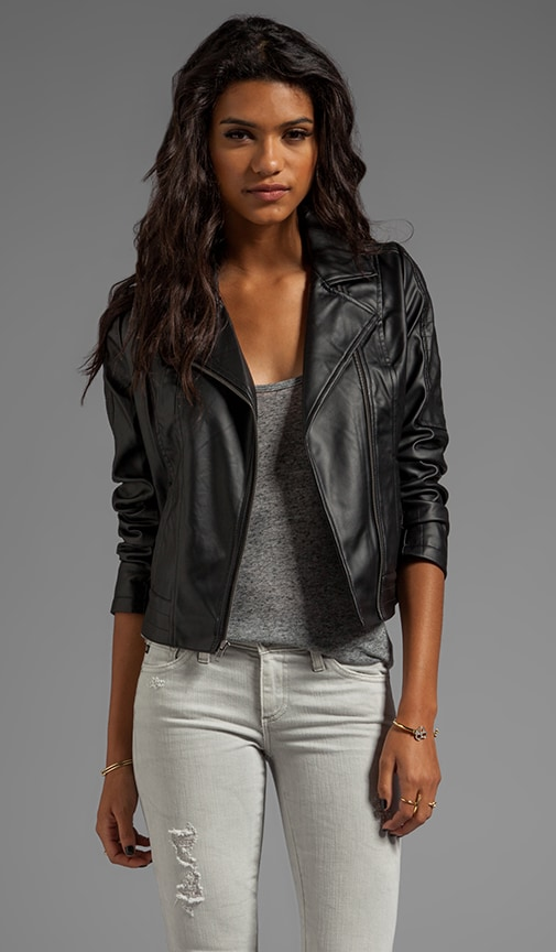 Estela 2 Tone PU Leather Jacket