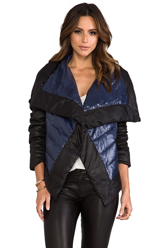 Cecille Puffer Jacket w/ Faux Suede Trim