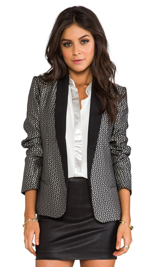 Harriet Jacquard Lapel Blazer