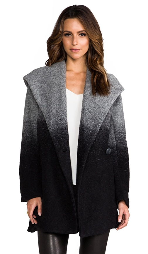 Joyce Ombre Hooded Coat