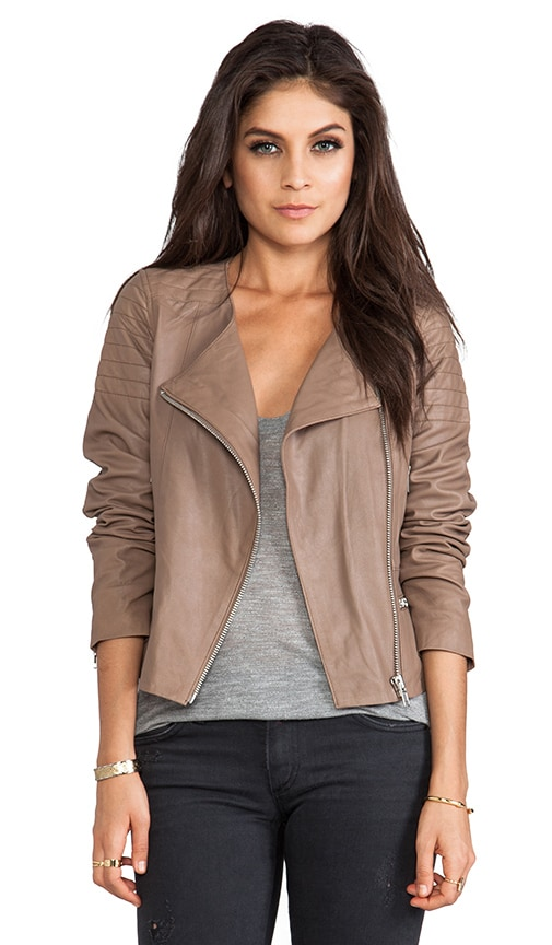 Taupe Leather Jacket Ladies | Jackets Review
