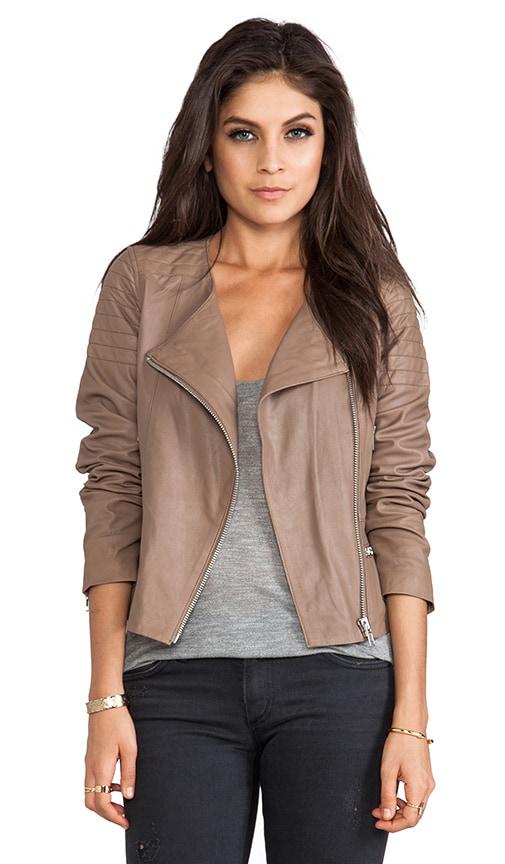 BB Dakota Dolorosa Lamb Leather Jacket in Tan | REVOLVE