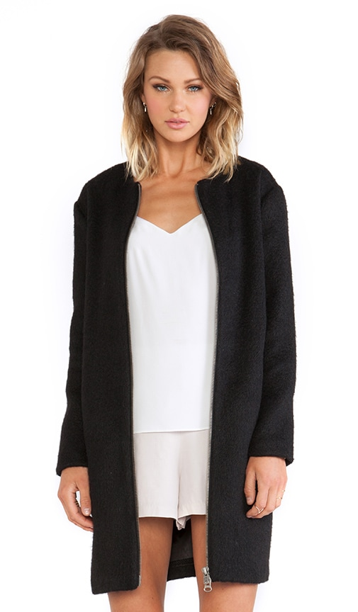 Liezel Wool Zip Up Coat