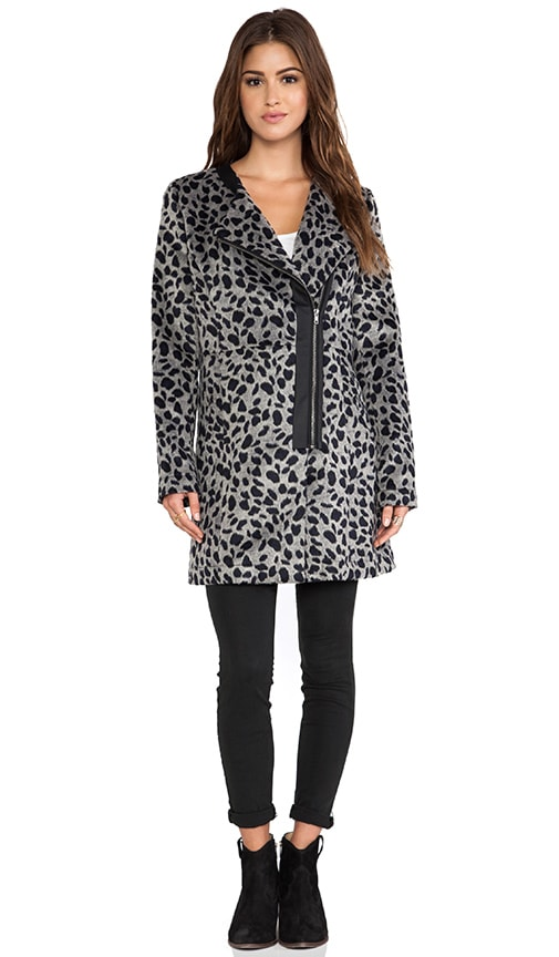 Elden Leopard Faux Fur Jacket