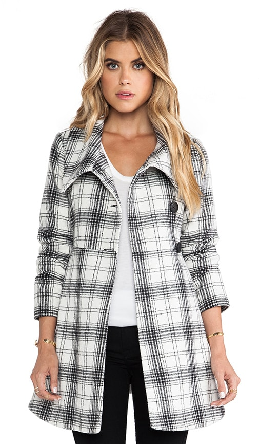 Kinsey Plaid Coat