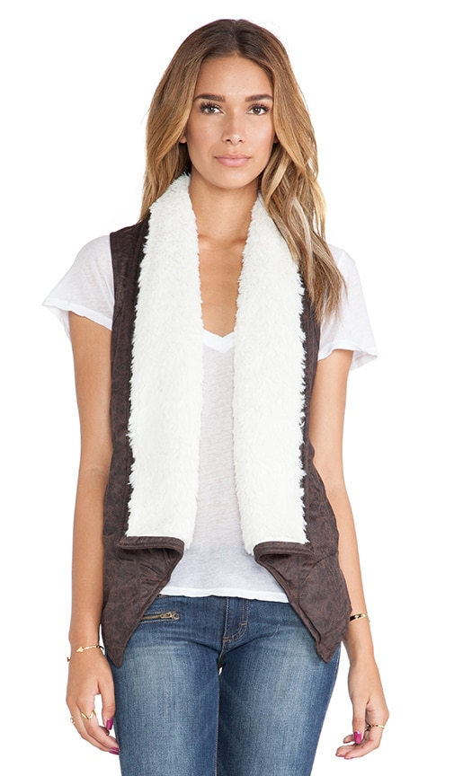 Decker Vest with Faux Fur Trim