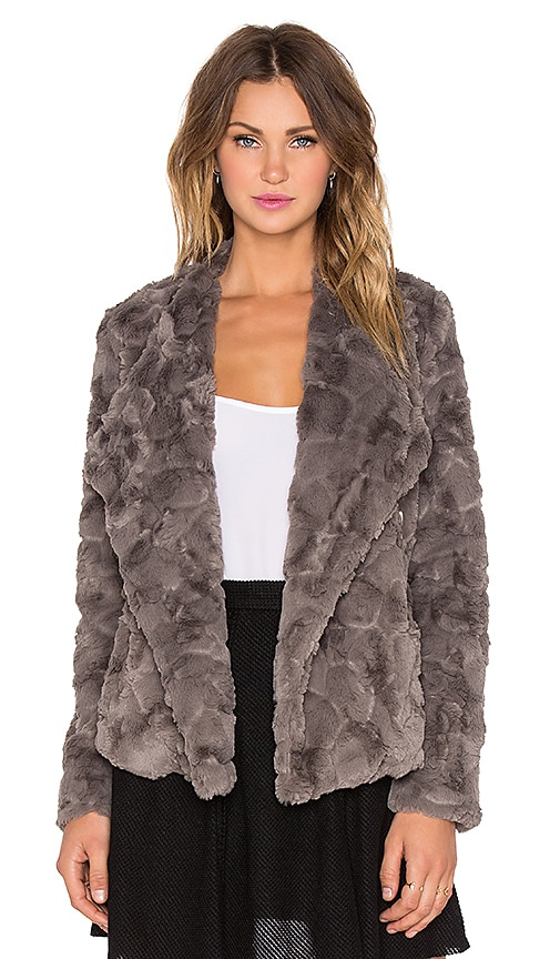 BB Dakota Jada Faux Fur Jacket in Grey