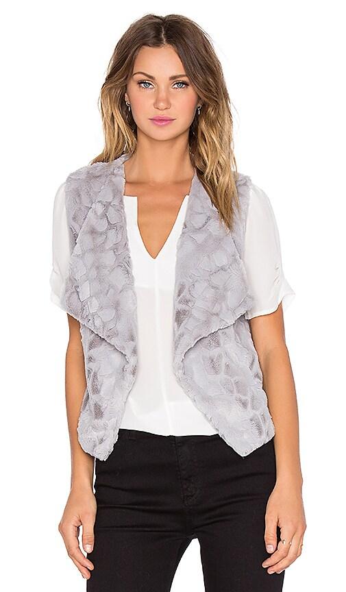BB Dakota Jack by BB Dakota Darko Faux Fur Vest in Silver Grey